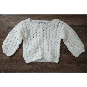 Other - NWOT, White knit baby girl cardigan